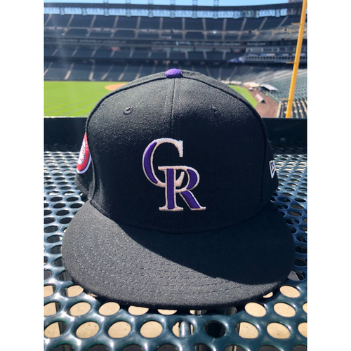 Photo of Colorado Rockies Game-Used Memorial Day Hat - Trevor Story