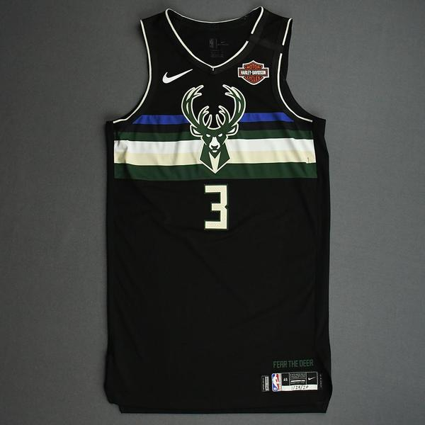 Image of George Hill - Milwaukee Bucks - 2020 NBA Paris Games - Game-Worn Statement Edition Jersey