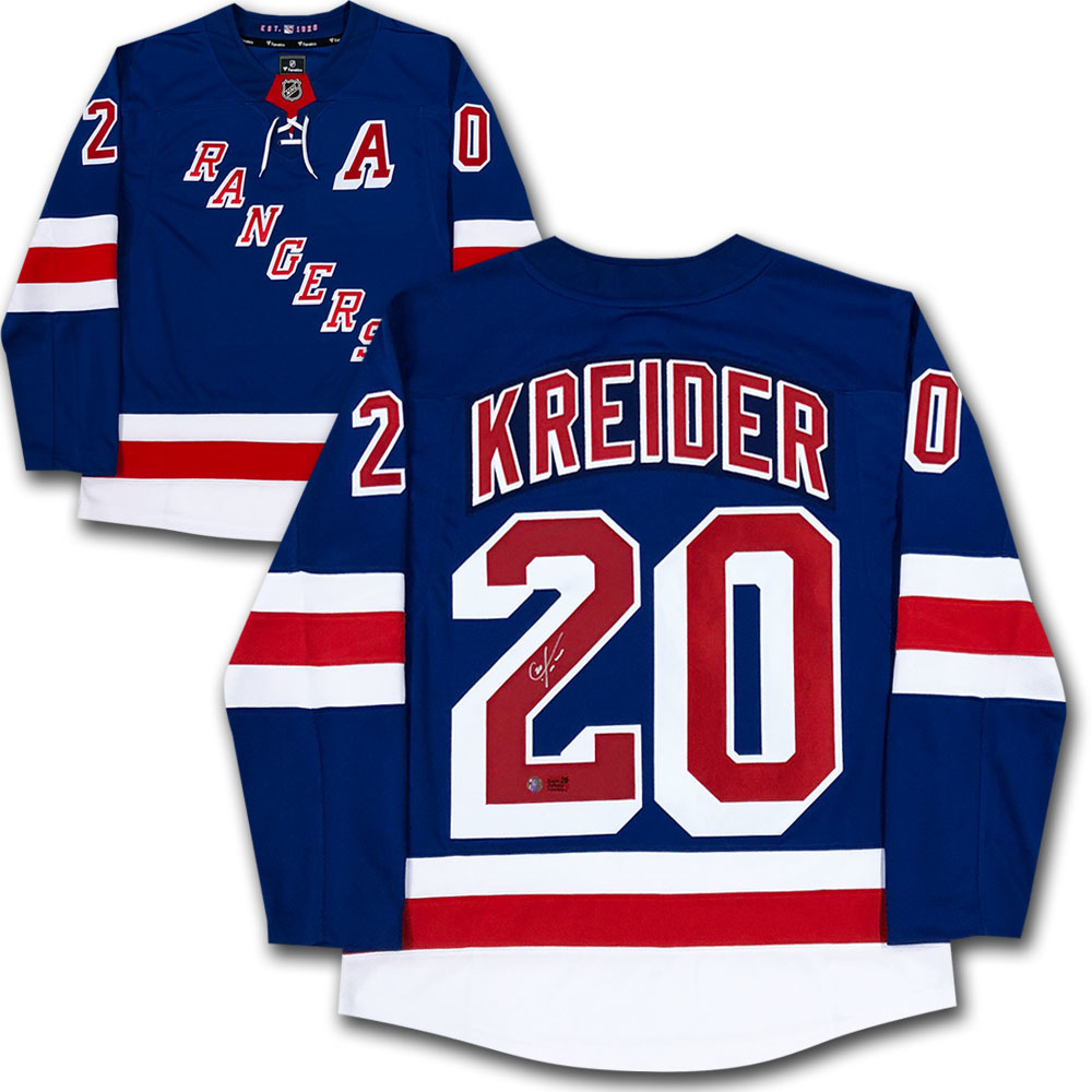 Chris Kreider Autographed New York Rangers Fanatics Jersey