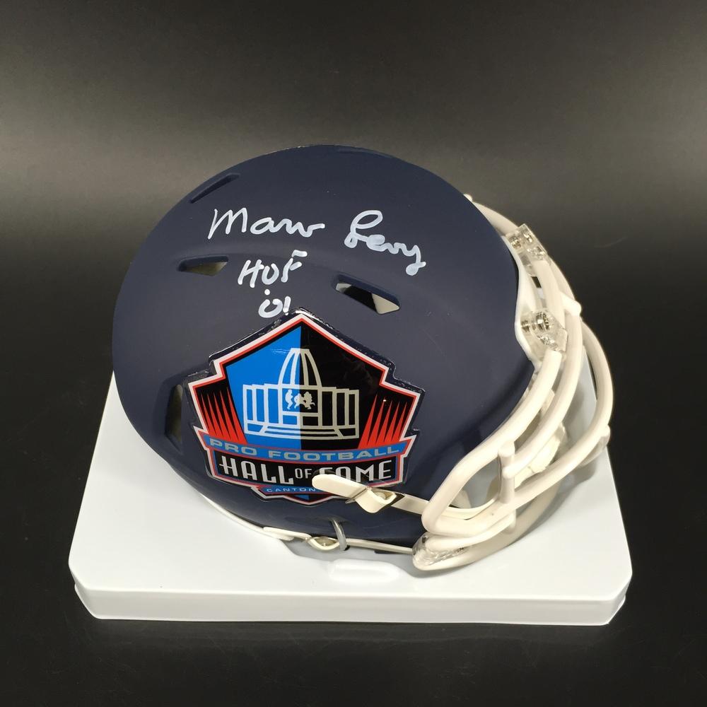 HOF - Bills Marv Levy Signed Hall of Fame Mini Helmet
