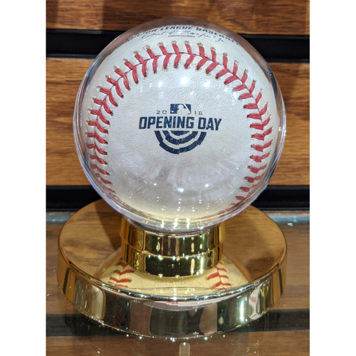 2018 Red Sox Opening Day Game Used Baseball