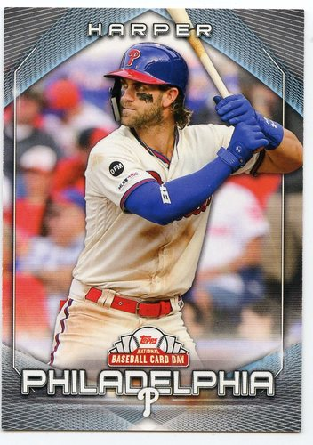 Photo of 2020 Topps National Baseball Card Day #21 Bryce Harper