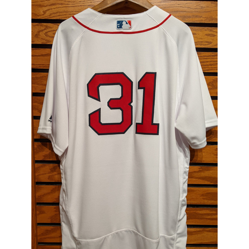 Photo of Erasmo Ramirez #32 Team Issued Home White Jersey