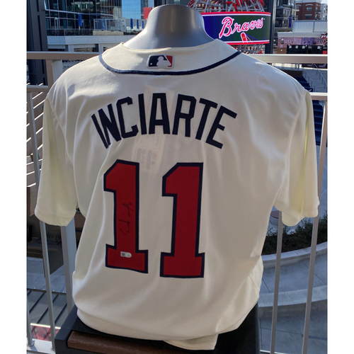 Photo of Ender Inciarte Off White Autographed Jersey