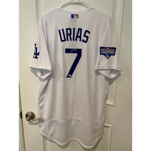 Photo of Julio Urias Autographed Authentic Los Angeles Dodgers Jersey
