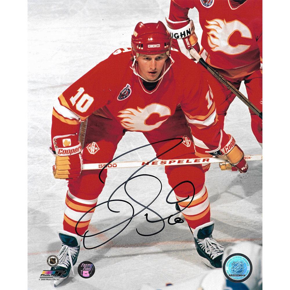 Gary Roberts Autographed Calgary Flames 8X10 Photo
