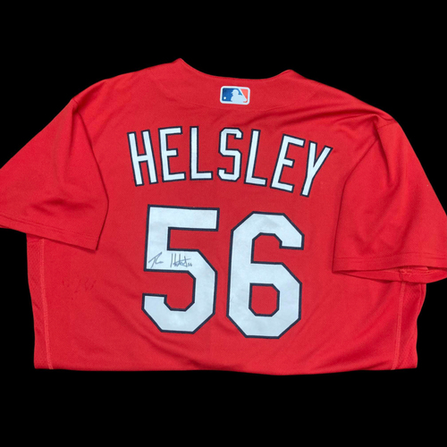 Ryan Helsley Autographed Team Issued Batting Practice Jersey (Size 46)