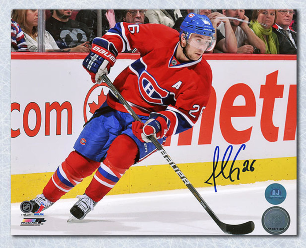 Josh Gorges Montreal Canadiens Autographed Defence 8x10 Photo