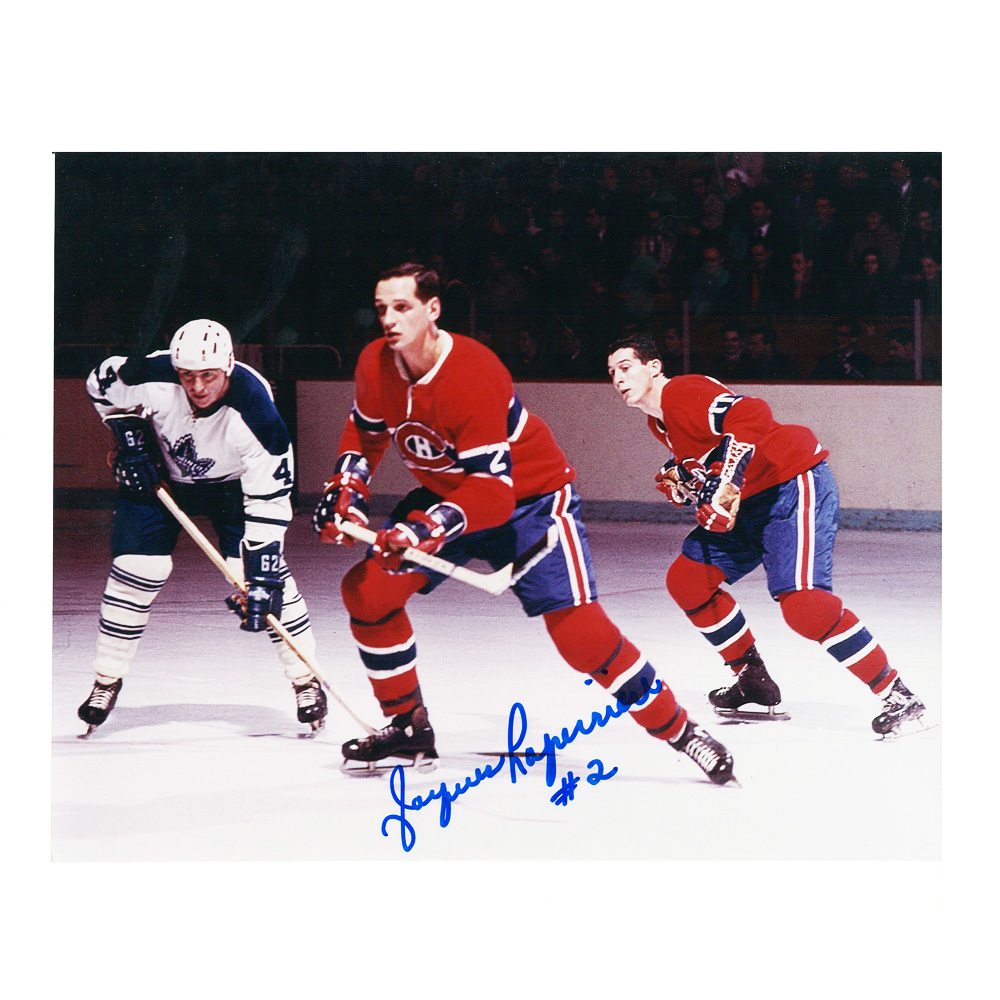 JACQUES LAPERRIERE Signed Montreal Canadiens 8 X 10 Photo - 70034
