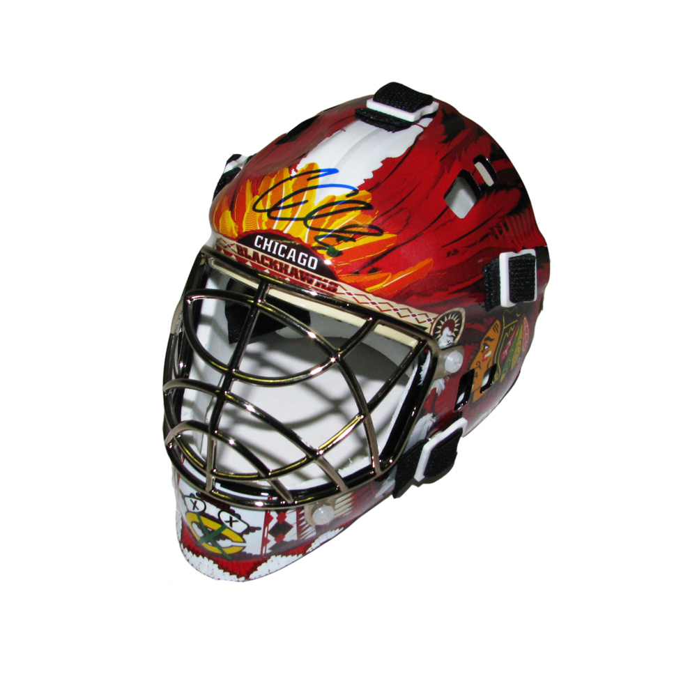 COREY CRAWFORD Signed Chicago Blackhawks Mini Goalie Mask