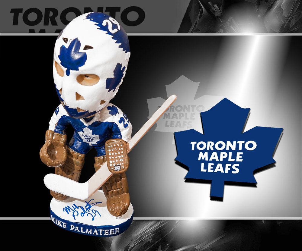 Mike Palmateer Toronto Maple Leafs Autographed Bobblehead