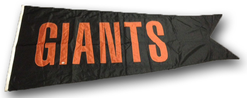 Wrigley Field Collection -- Scoreboard Flag -- Giants