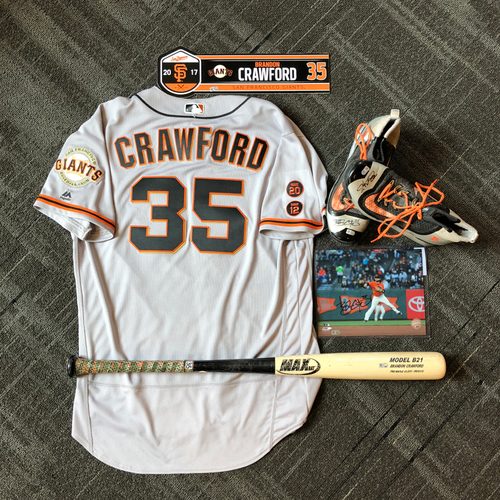 Photo of San Francisco Giants - Brandon Crawford Game-Used Memorabilia Ultimate <i>From The Clubhouse</i> Collector's Pack