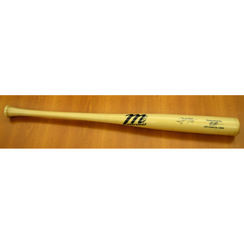Photo of Manny Machado Los Angeles Dodgers Autographed Clubhouse Issued Player Model Bat (NOT MLB Authenticated)