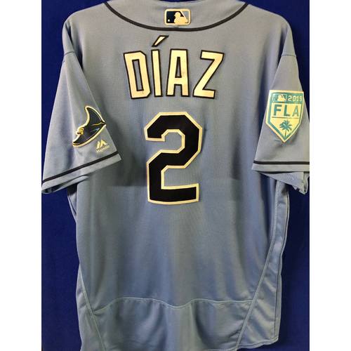 Photo of Game Used Spring Training Jersey: Yandy Diaz - February 22, 2019 v PHI and March 26, 2019 v DET