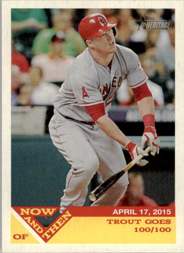 Photo of 2015 Topps Heritage Now and Then #NT4 Mike Trout