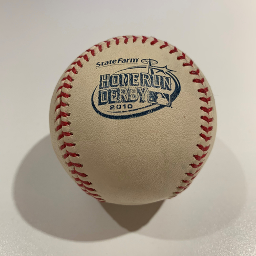 Photo of 2010 Home Run Derby - Game Used Baseball - Batter: Miguel Cabrera -  Round 1
