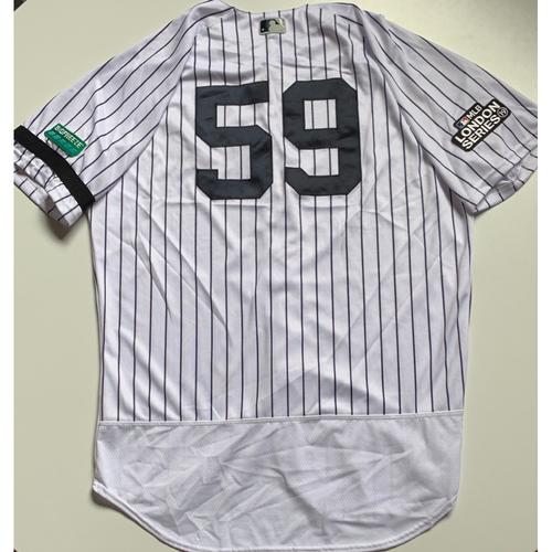 2019 London Series - Game-Used Jersey - Josh Bard, New York Yankees vs Boston Red Sox - 6/29/19