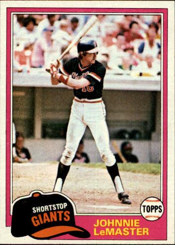 Photo of 1981 Topps #84 Johnnie LeMaster
