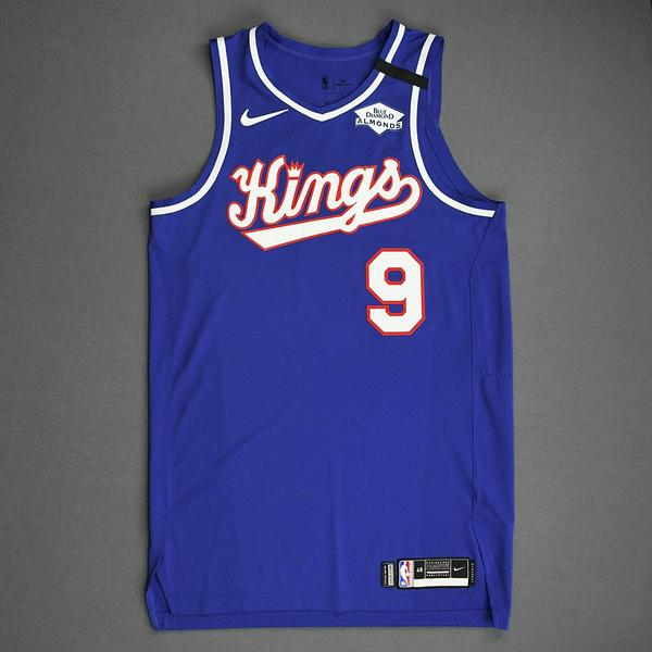 Image of Cory Joseph - Sacramento Kings - Game-Worn Classic Edition 1990-94 Road Jersey - 2019-20 NBA Season