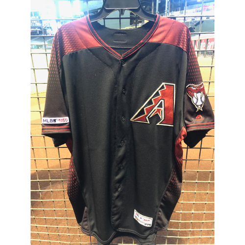 Photo of Kevin Cron 2019 Team-Issued Home Alternate Jersey, Size 50