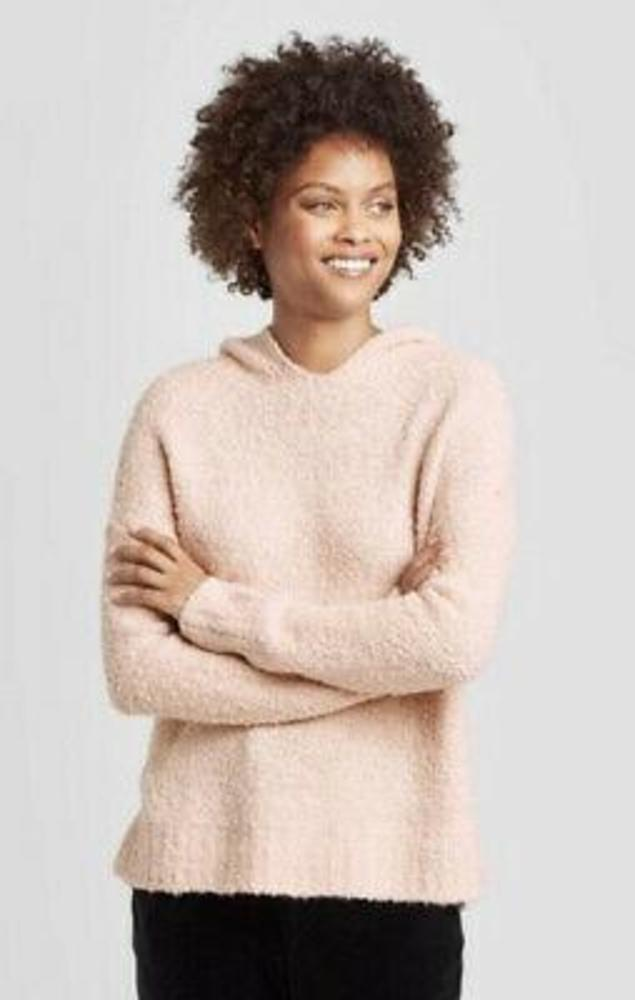 Photo of A New Day Women's Casual Fit V-Neck Hoodie Pullover Sweater