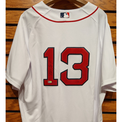 Photo of Hanley Ramirez #13 Autographed Home White Jersey