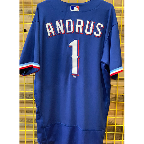 Photo of Elvis Andrus Team-Issued Spring Training Jersey
