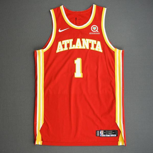 Image of Nathan Knight - Atlanta Hawks - Game-Worn Icon Edition Jersey - 2020-21 NBA Season