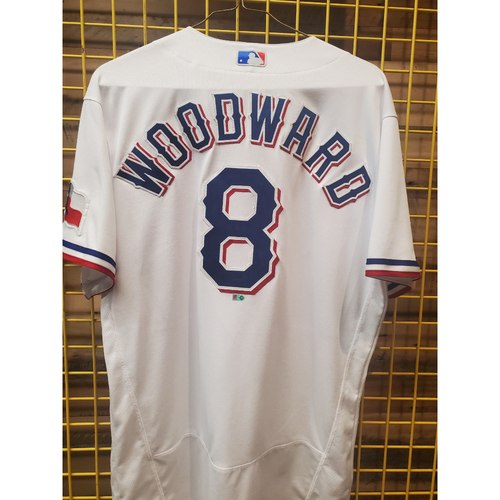 Photo of Chris Woodward Game-Used White Opening Day Jersey - 4/5/21