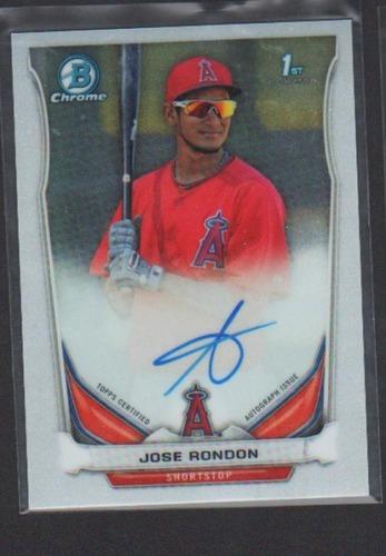 Photo of 2014 Bowman Chrome Prospect Autographs #BCAPJRO Jose Rondon