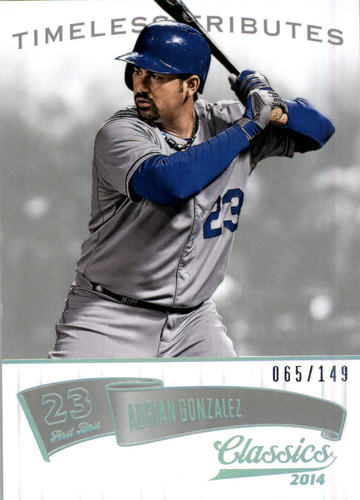 Photo of 2014 Classics Timeless Tributes Silver #4 Adrian Gonzalez