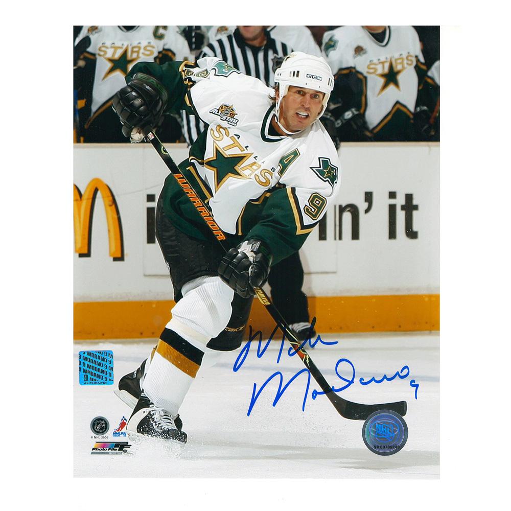 MIKE MODANO Signed Dallas Stars 8 X 10 Photo - 70035