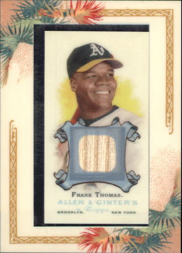 Photo of 2006 Topps Allen and Ginter Relics  Frank Thomas Bat