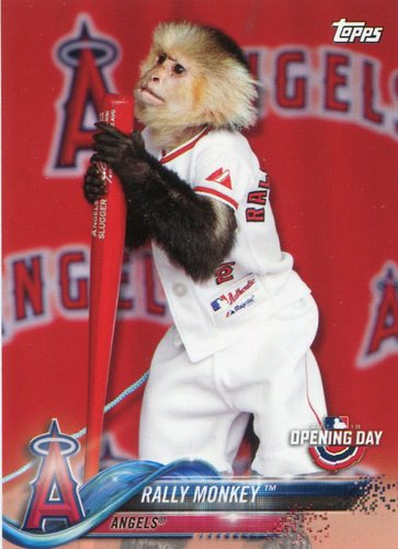 Photo of 2018 Topps Opening Day Mascots #M14 Rally Monkey