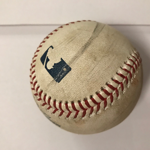Photo of Mike Foltynewicz Game Used Pitched Baseball - June 25, 2018 - Batter: Scott Schebler, Foul