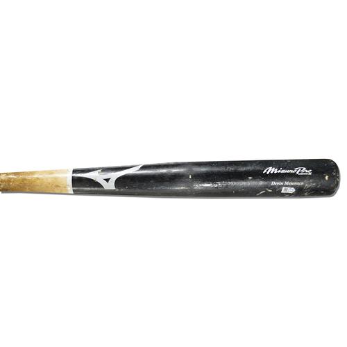Photo of Devin Mesoraco #29 - Game Used Cracked Bat - Black and Beige Mizuno Model - Mets vs. Marlins - 6/30/18