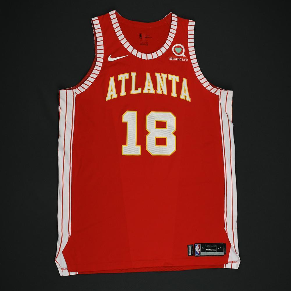 lowest price 50644 54cd4 Miles Plumlee - Atlanta Hawks - Game-Worn Classic Edition ...