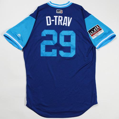 "Photo of Devon ""D-Trav"" Travis Toronto Blue Jays Game-Used Jersey 2018 Players' Weekend Jersey"