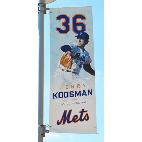 Photo of Jerry Koosman #36 - Citi Field Banner - 2017 Season