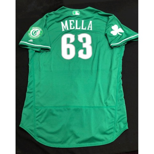 Photo of Keury Mella -- Team-Issued Jersey -- 2019 St. Patrick's Day