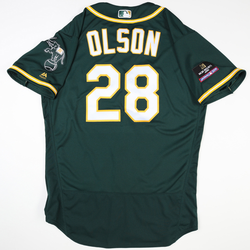 Photo of 2019 Japan Opening Day Series - Game Used Jersey - Matt Olson, Oakland Athletics at Nippon Ham Fighters -3/17/2019