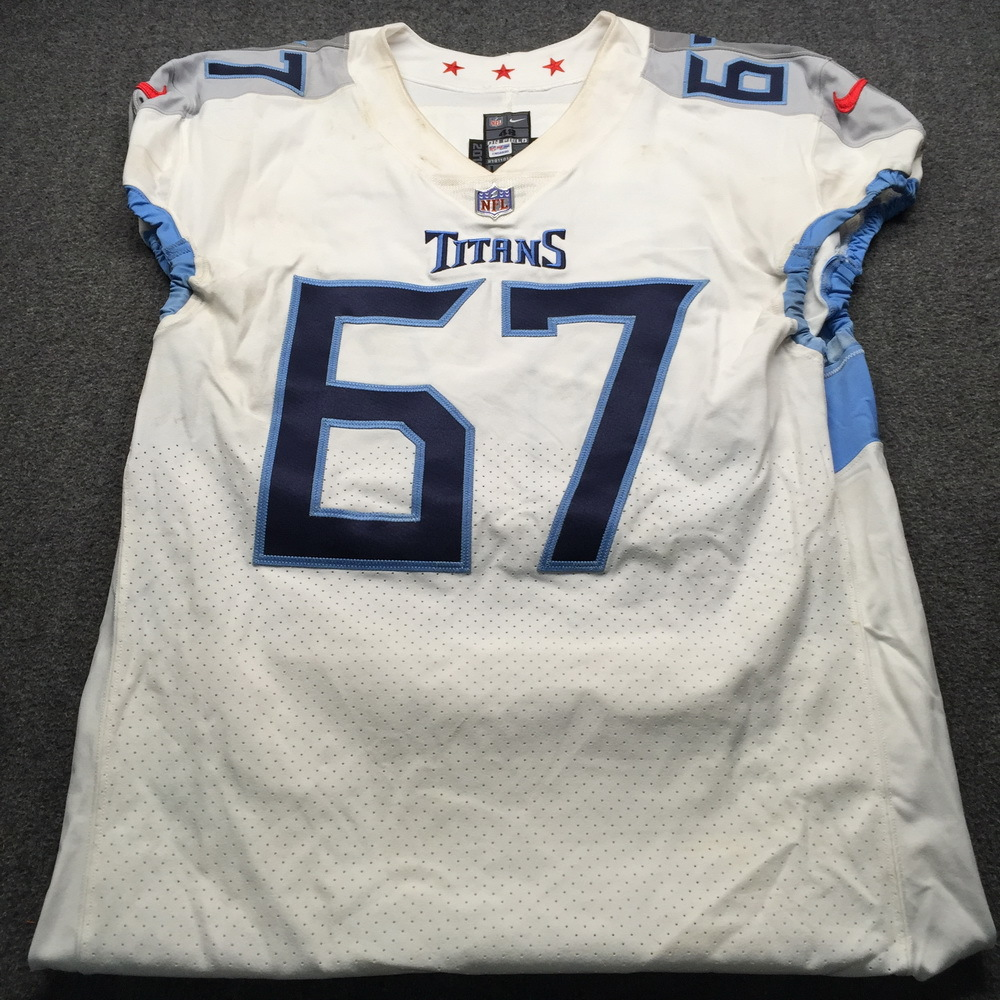 purchase cheap 1364e 75a6b NFL Auction | London Games - Titans Quinton Spain Game Used ...