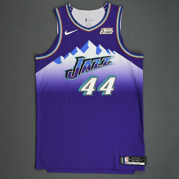 Image of Bojan Bogdanovic - Utah Jazz - Game-Worn Classic Edition 1996-04 Road Jersey - Scored 26 Points - 1st Half - 2019-20 Season