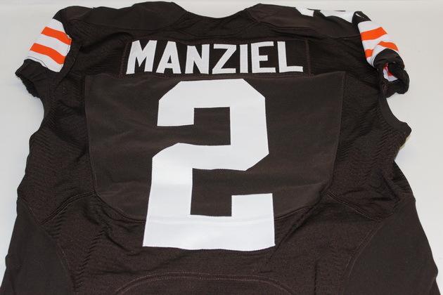 NFL Auction | JOHNNY MANZIEL GAME WORN BROWNS JERSEY (OCTOBER 12 ...