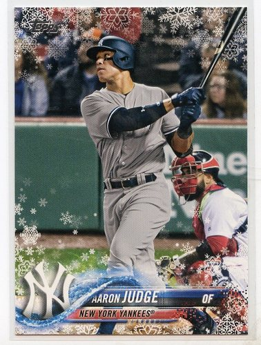 Photo of 2018 Topps Walmart Holiday Snowflake #HMW99 Aaron Judge