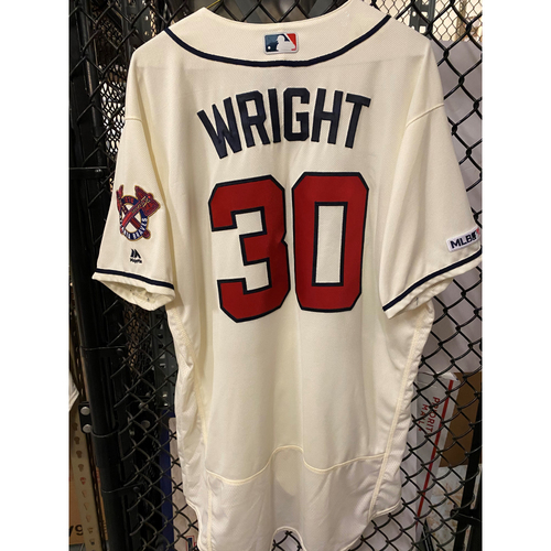 Photo of Kyle Wright Game Used Home Ivory Jersey - Worn 9/22/19