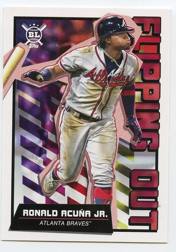 Photo of 2020 Topps Big League Flipping Out #FO2 Ronald Acuna Jr.