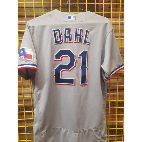Photo of David Dahl Team-Issued Grey Jersey