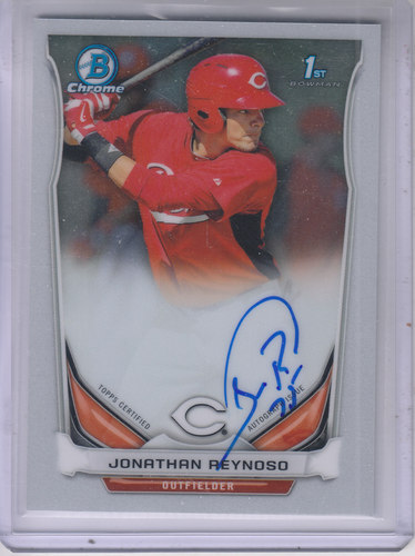 Photo of 2014 Bowman Chrome Prospect Autographs #BCAPJRE Jonathan Reynoso